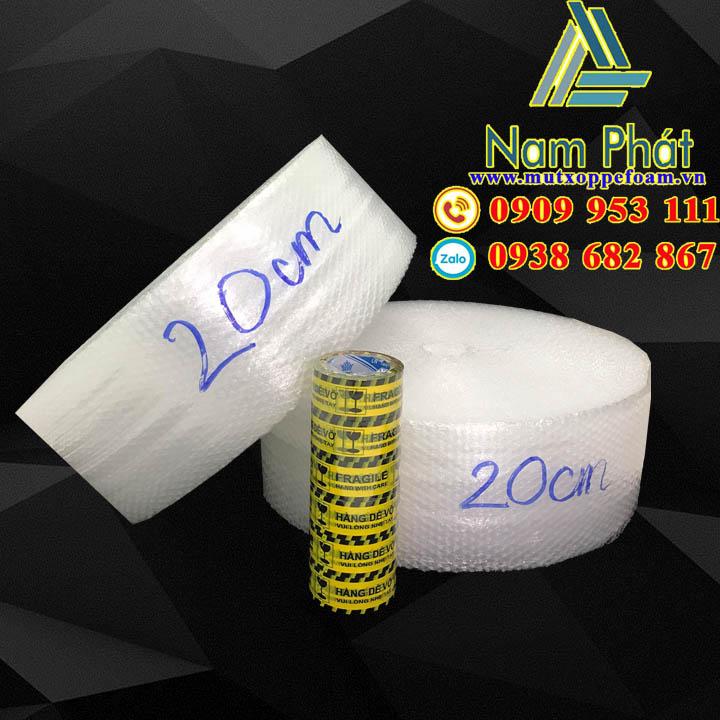 Cuộn xốp bong bóng khí 20cm x 100m giá rẻ tại TPHCM